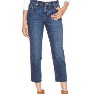 GAP Vintage High Rise Cropped Jeans 4/27 Raw Hem